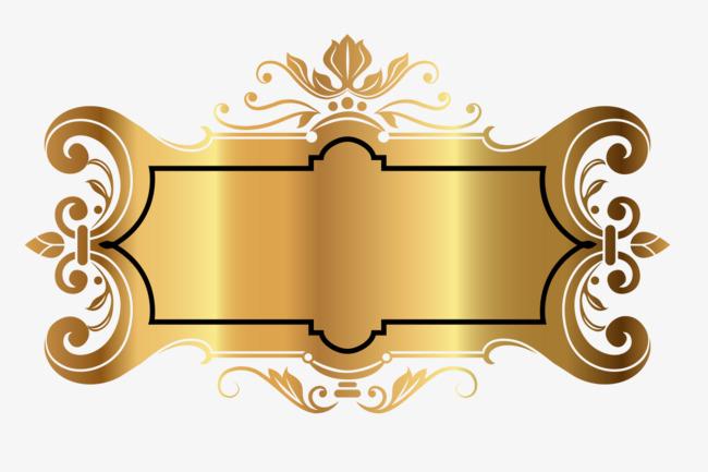 Gold Decorative Frame, Frame Clipart, Fr #263260.