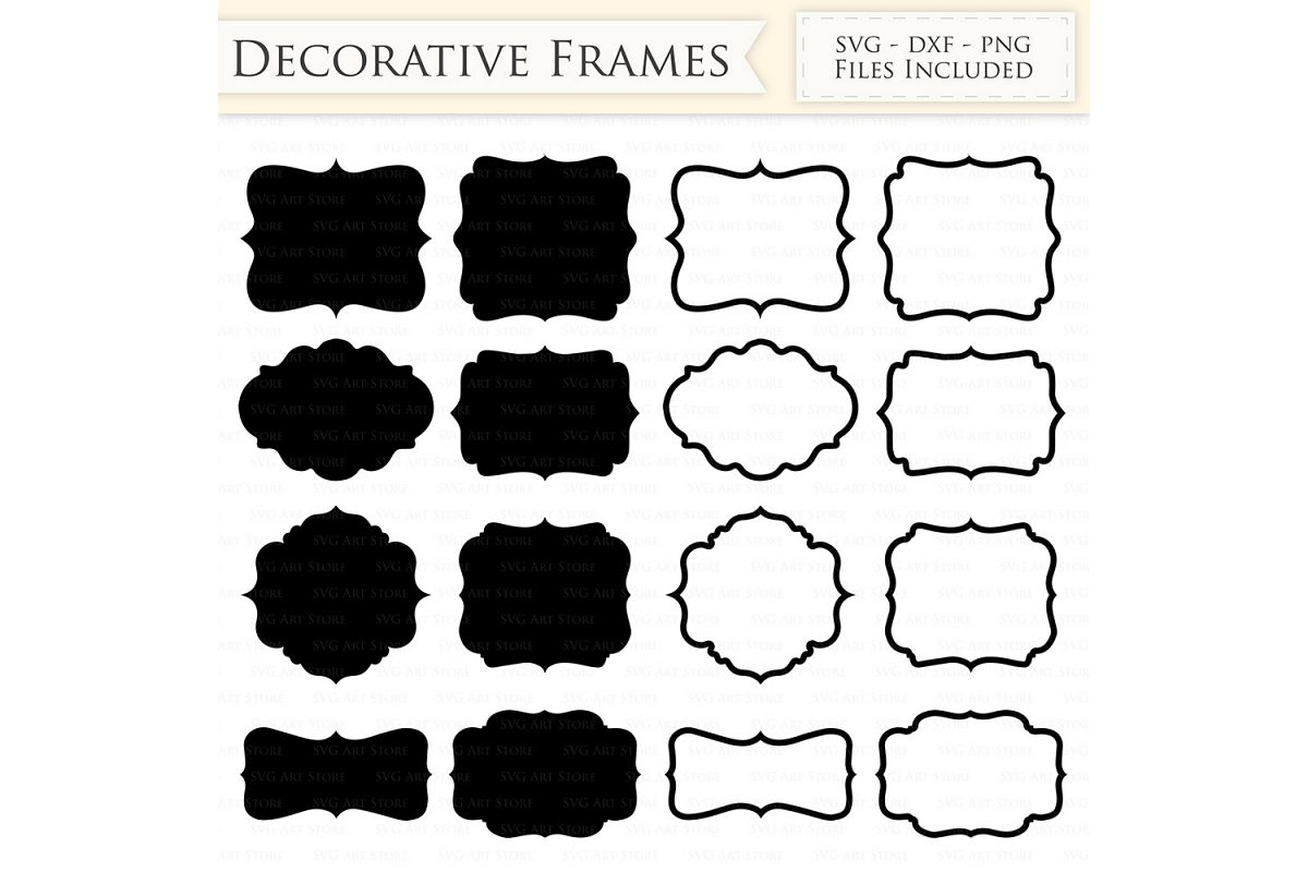 Decorative Frames SVG Files.