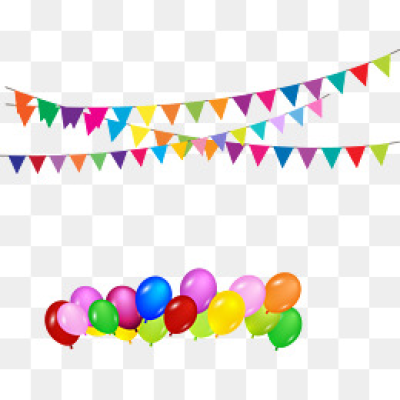 Birthday Party Decorations PNG Images.