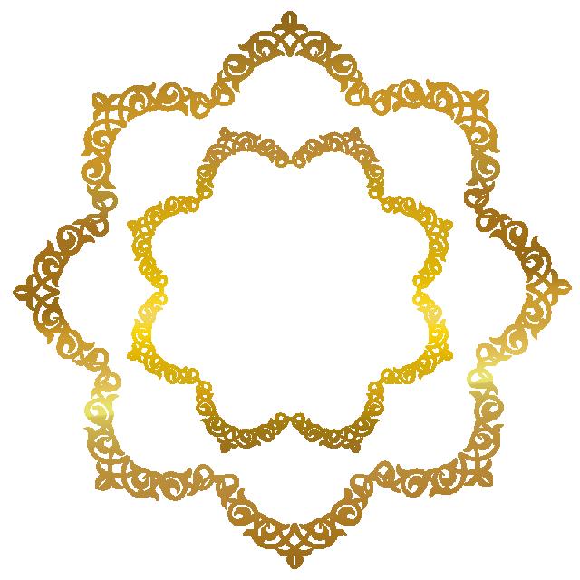 Ramadan Background Decorations, Frame, Border Frame, Gold Frame PNG.