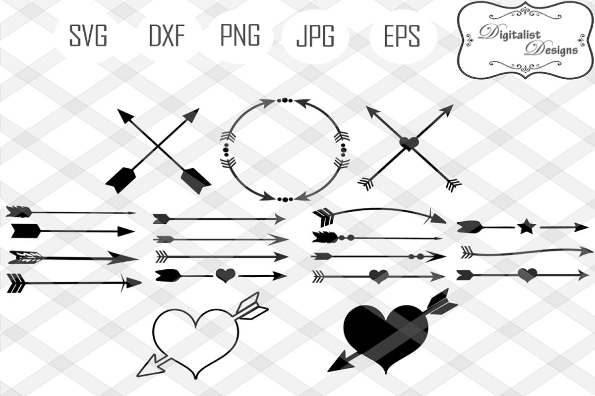 arrow svg, arrows svg, circle arrow svg, decorative arrows, tribal arrow  svg, heart arrow svg, arrow clipart, cricut cut files, silhouette.