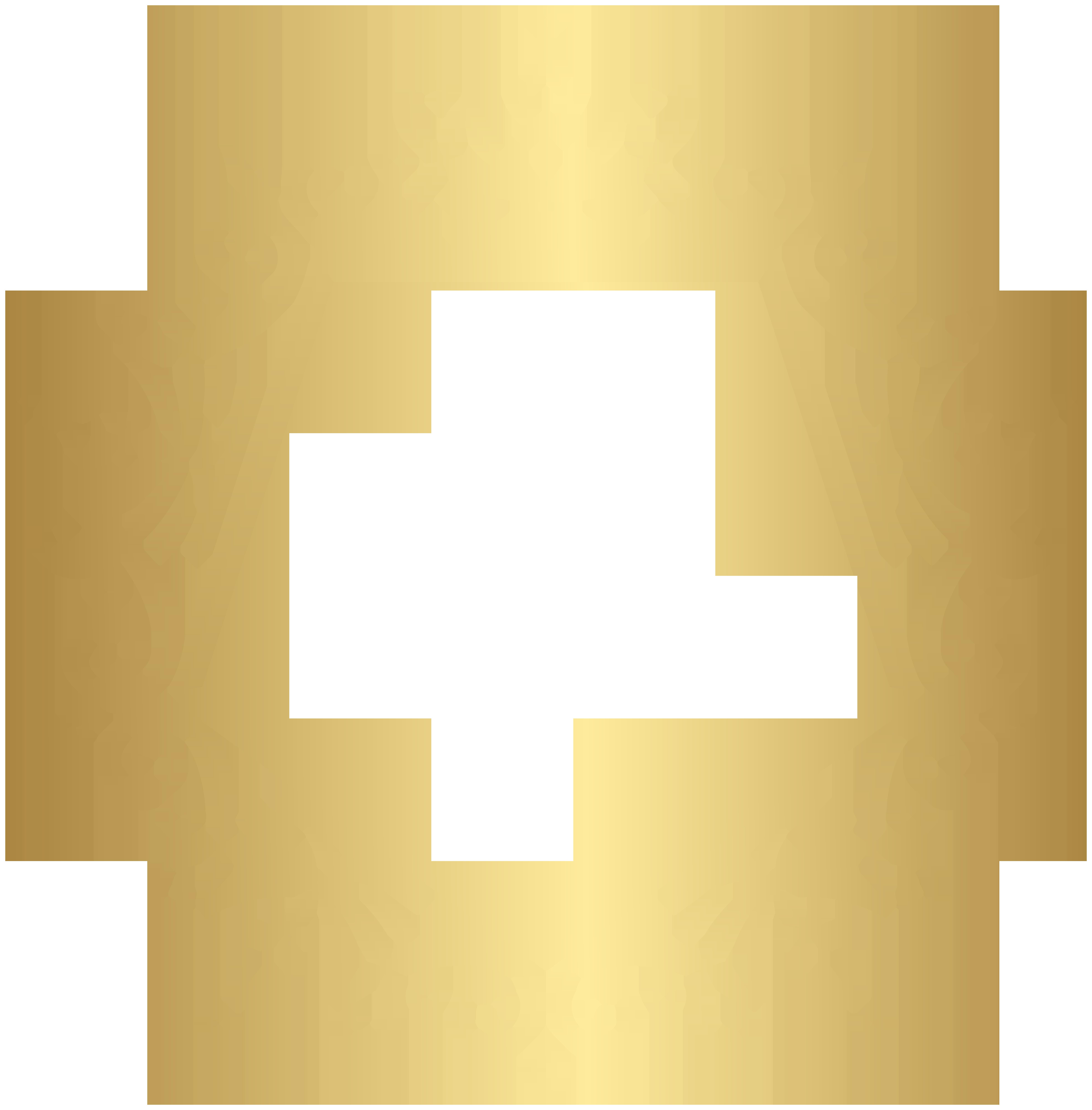 Circular Decorative Border PNG Clip Art Image.