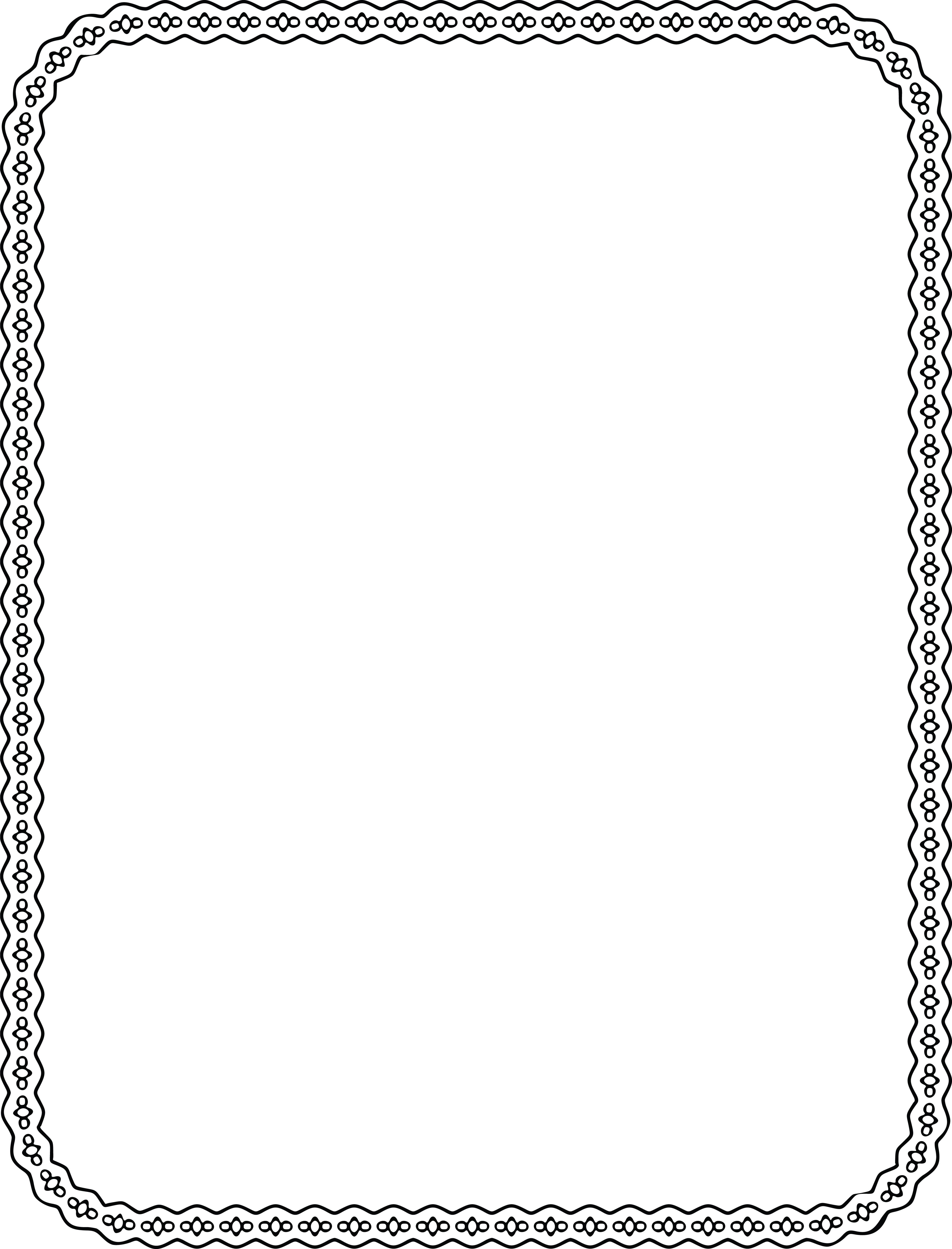 Free Clipart Of a Decorative Border.