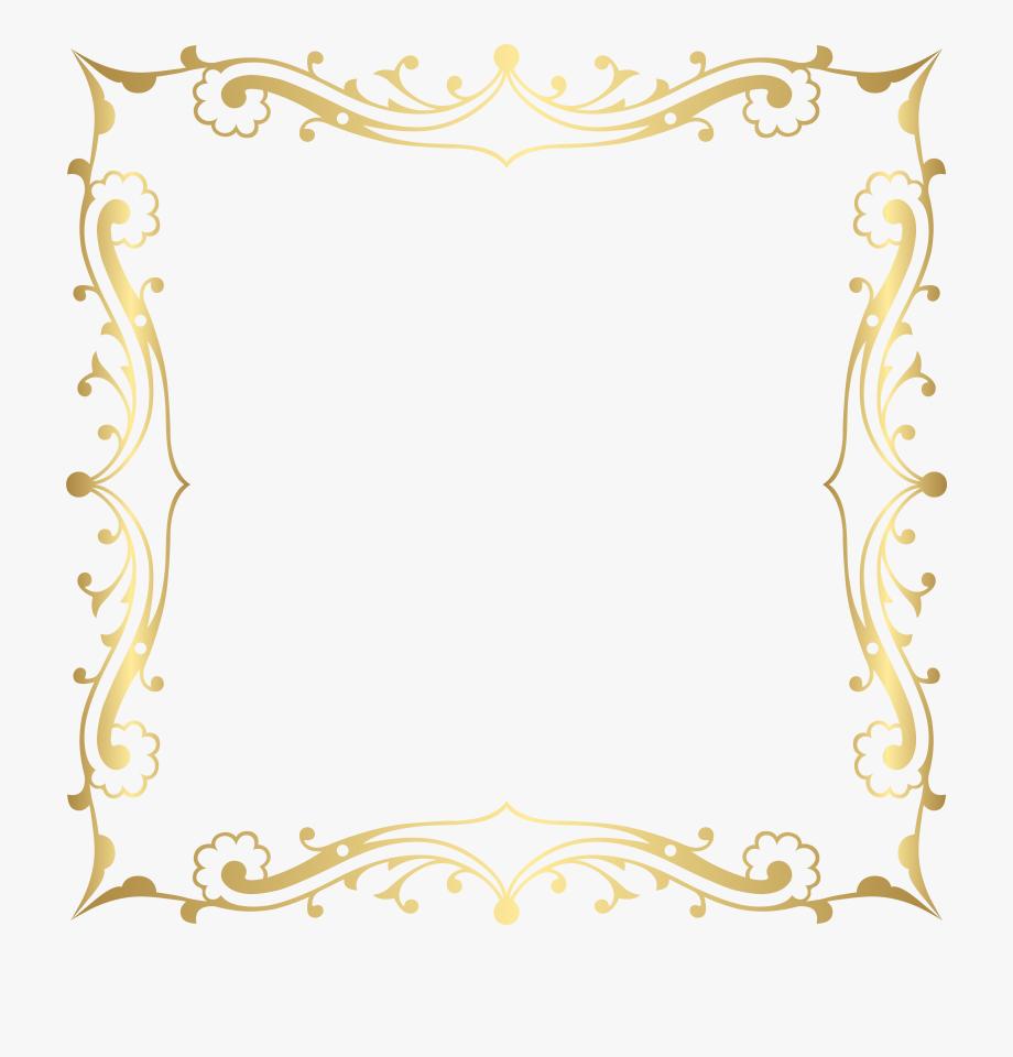 Decorative Border Frame Transparent Clip Art Image #126497.
