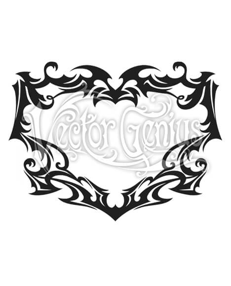 Tattoo Flash Art Tribal Decorative Border Clipart.