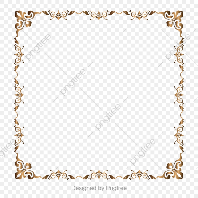 Gold Retro Decorative Border, Border, Golden Border, Golden Vector.