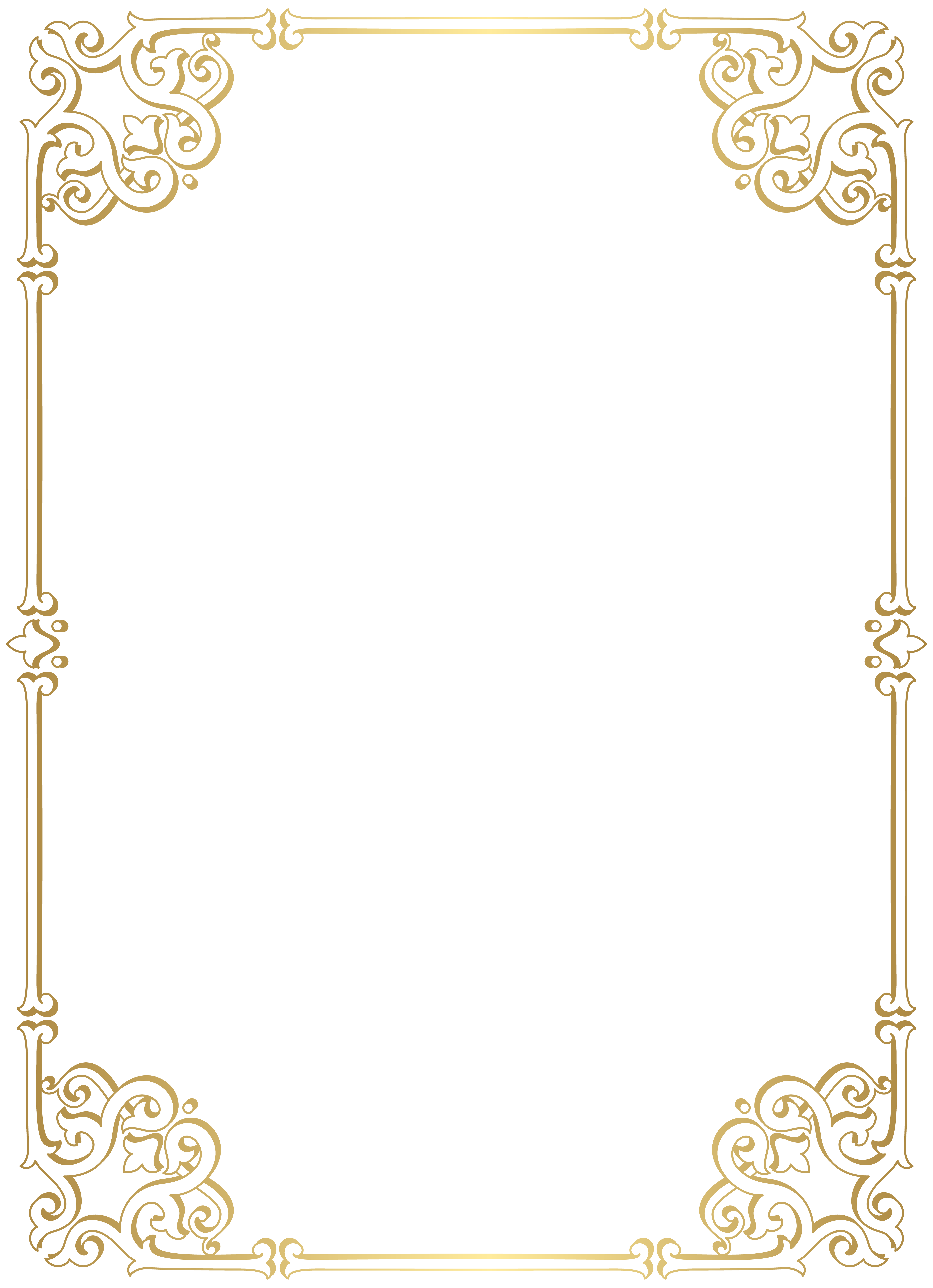 Decorative Border Frame PNG Clip Art.