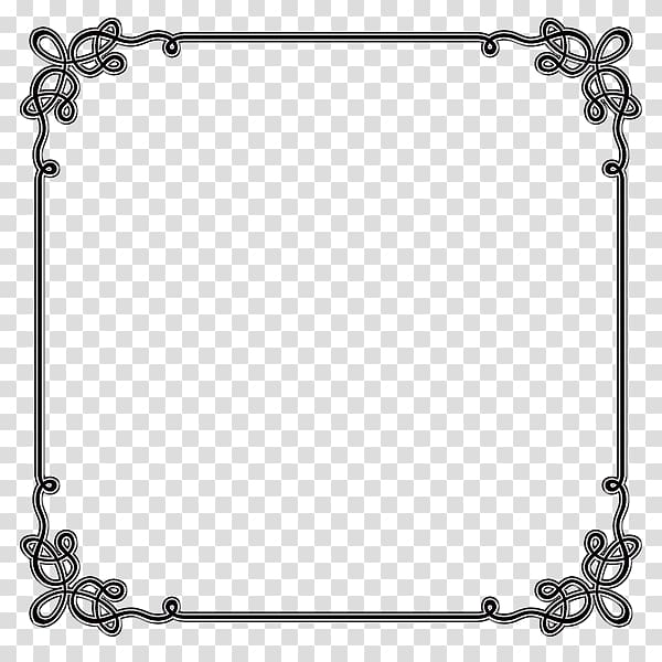 Square black frame illustration, Borders and Frames Microsoft Word.