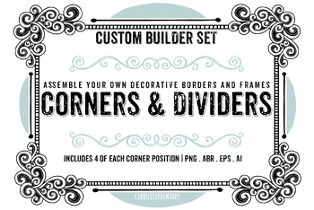 200+ Border ClipArt Images, Corners, Page dividers, Square Borders, Line Art.