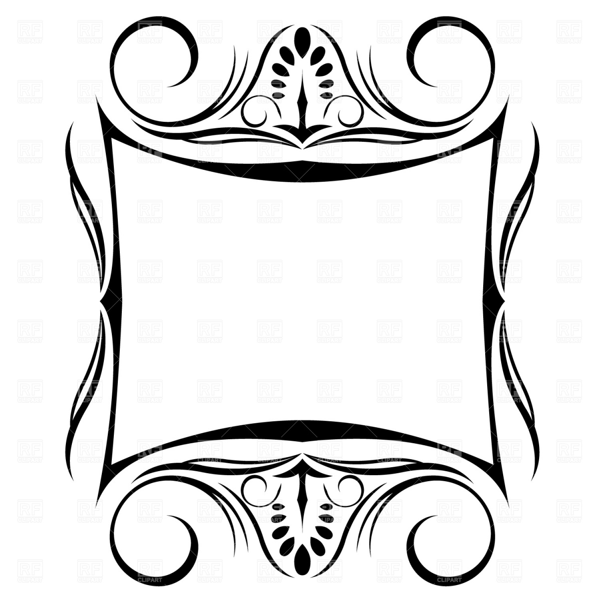 Decorative frame Stock Vector Image.