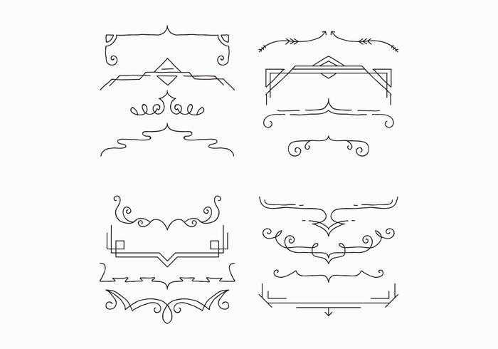 Brackets For Decoration Vectors.