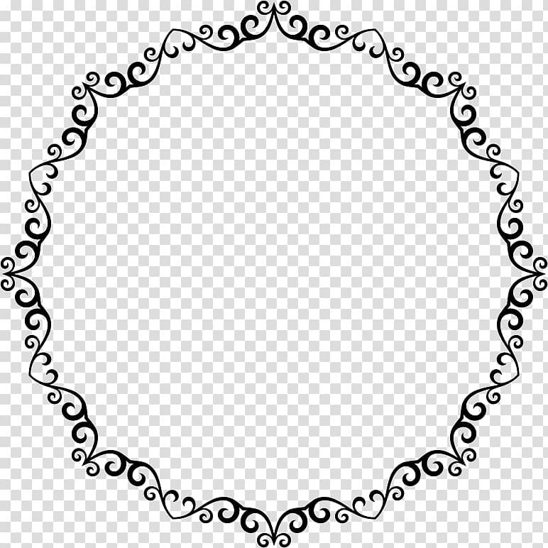 Decorative Borders Circle , circle transparent background.