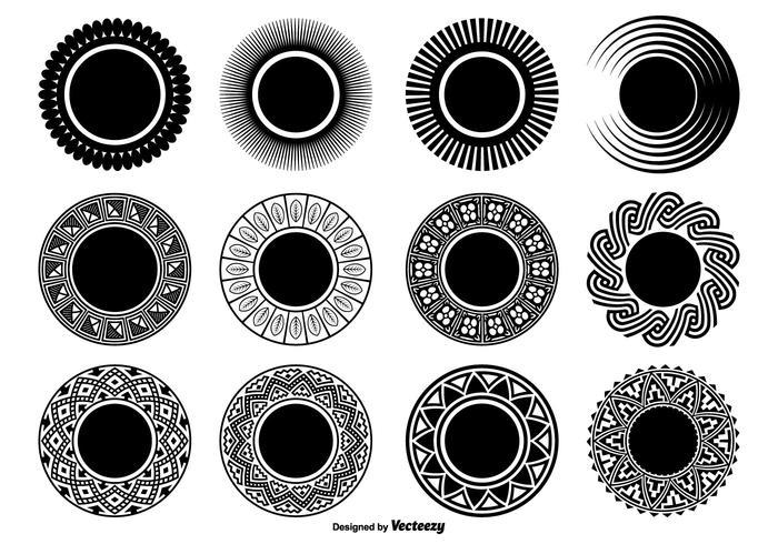 Decorative Circle Shapes.