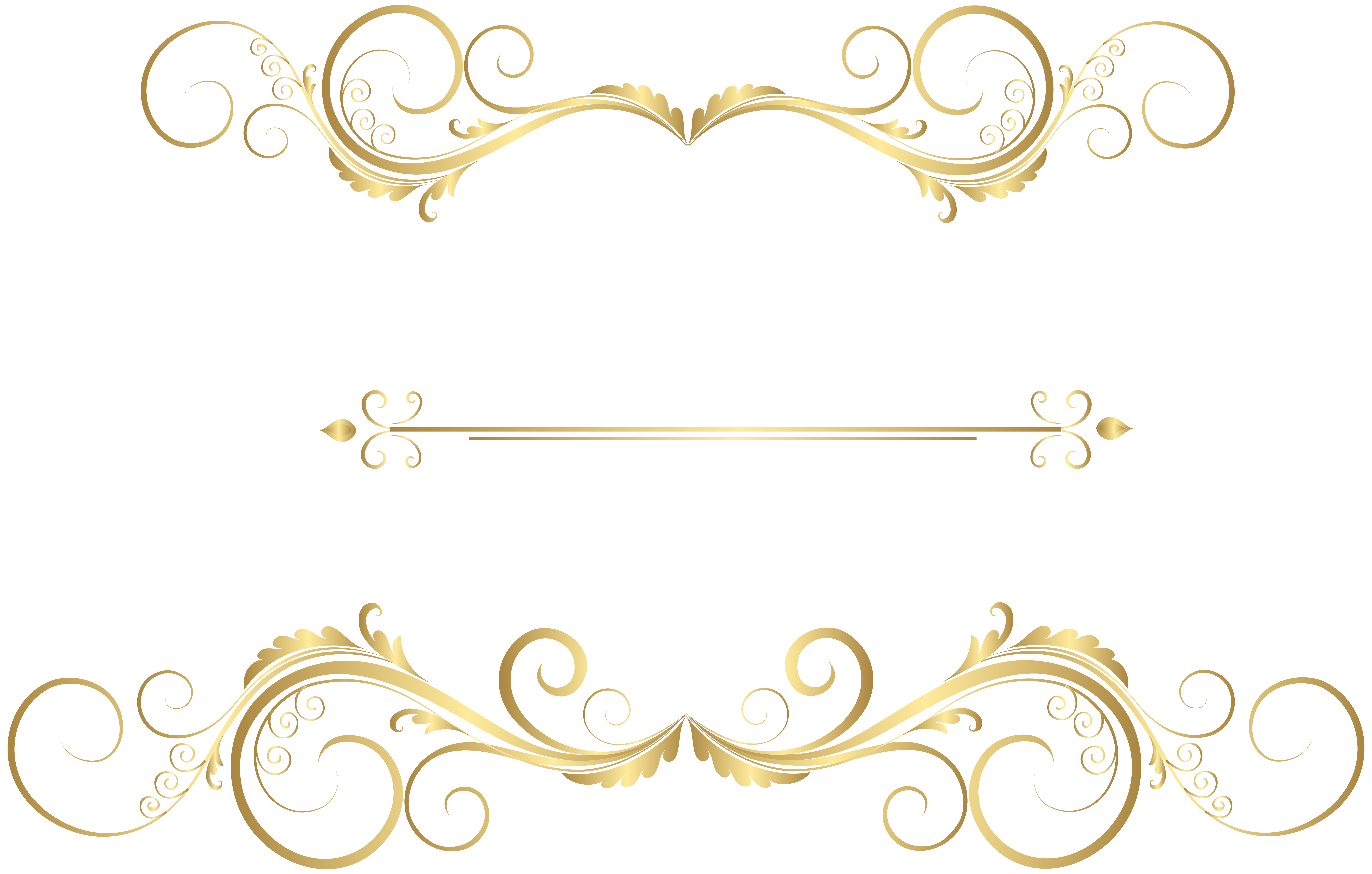 Gold Decorative Ornaments PNG Clip Art.