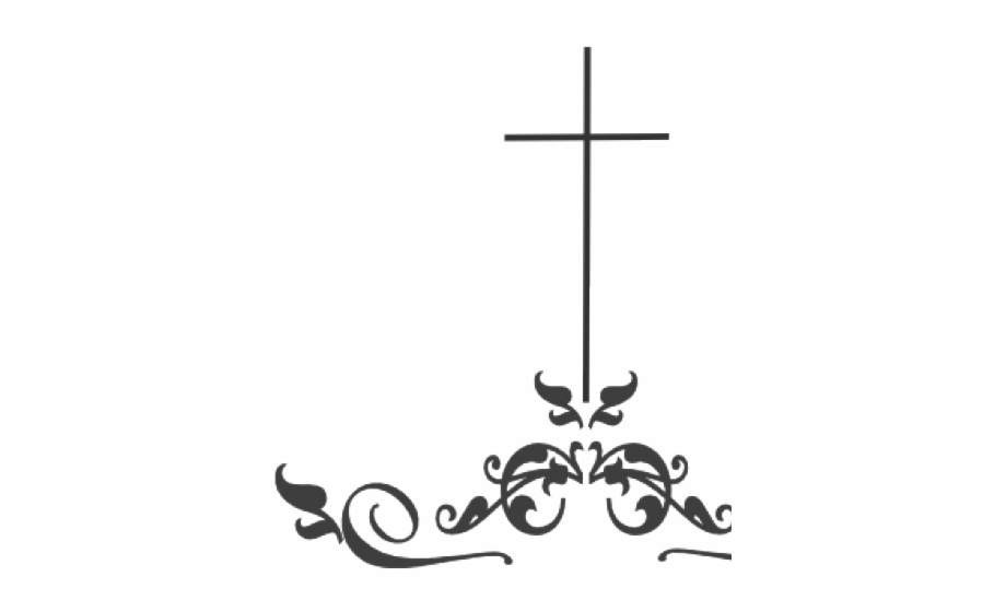Cross Clipart Black And White Png.