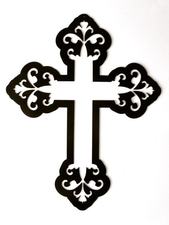 CrossHeavy Decorative Metal Wall Art by RillaBee on Etsy, $75.00.