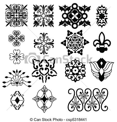 decorative design elements.