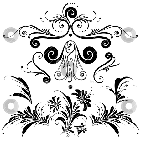 Set of Decorative Design Elements stock vector.
