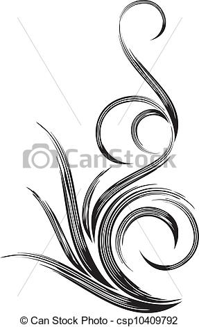 EPS Vectors of Beautiful decorative design element csp10409792.