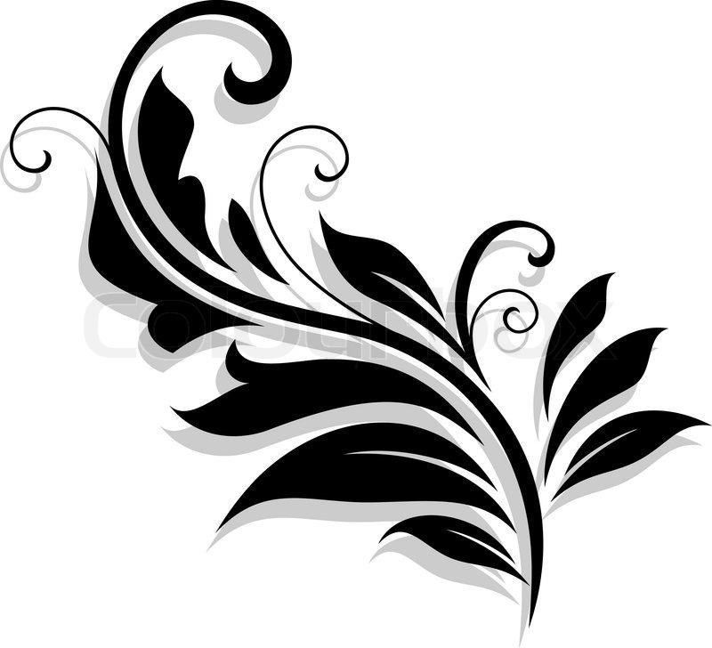 Decorative floral design element.