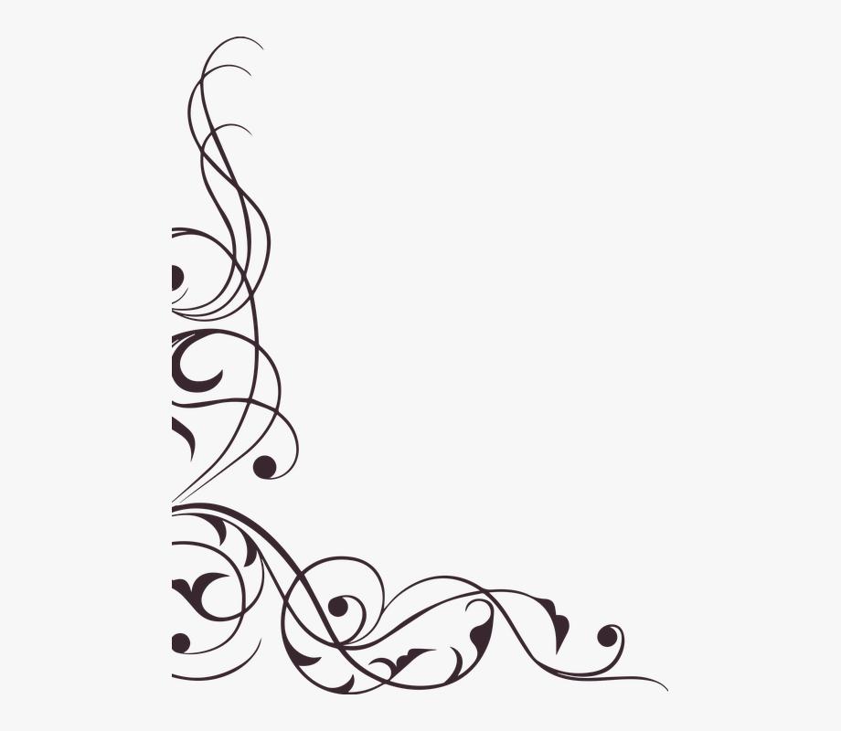 Swirl Ornament Decoration Element Ephemera Floral.