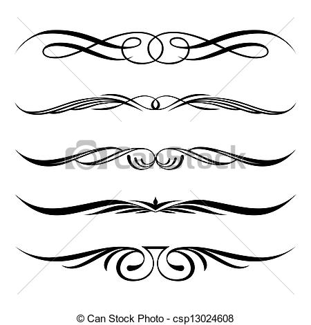 Vector Clipart of decorative elements, border and page rules.