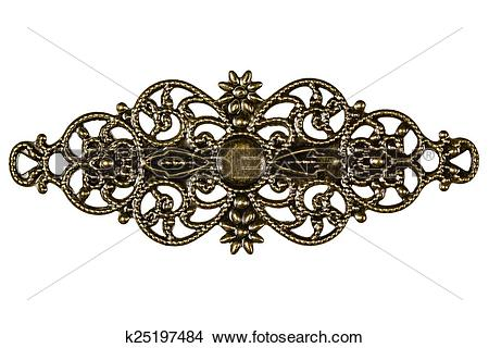 Stock Photo of Filigree, decorative element for manual work.