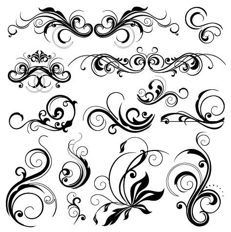 swirly designs.