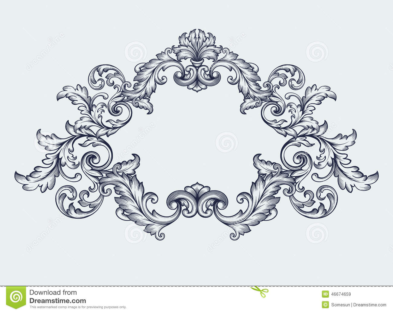 floral decorative element border and patterns vector.