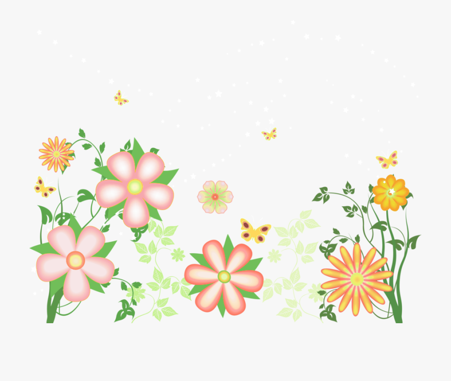 Decorative Flowers Free Transparent Clipart.