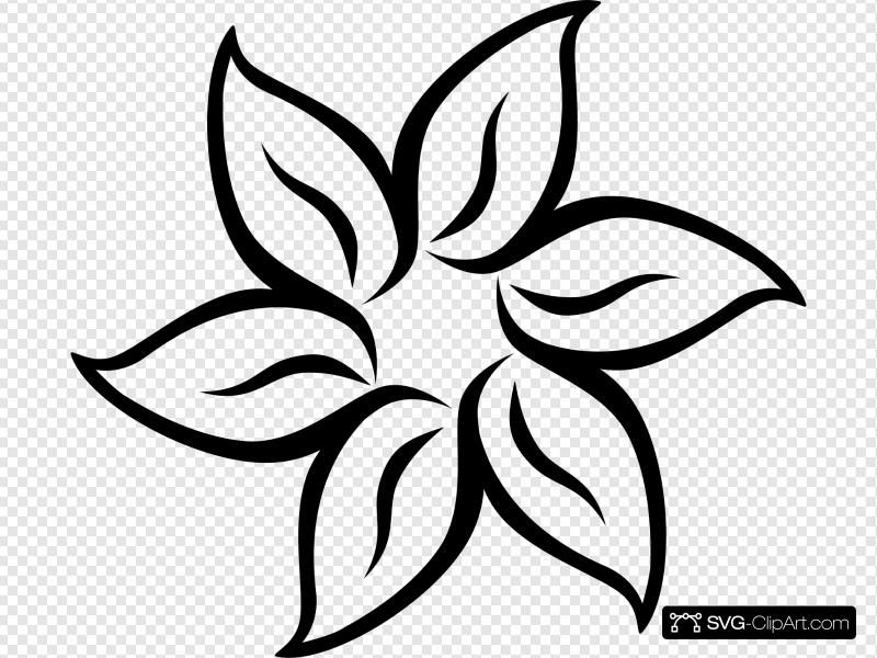 Decorative Flower Clip art, Icon and SVG.