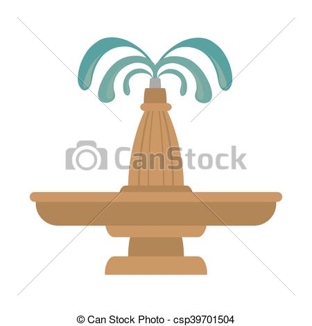 Vector Clipart of fountain water decoration.