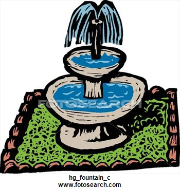 Yard Fountain Clipart.