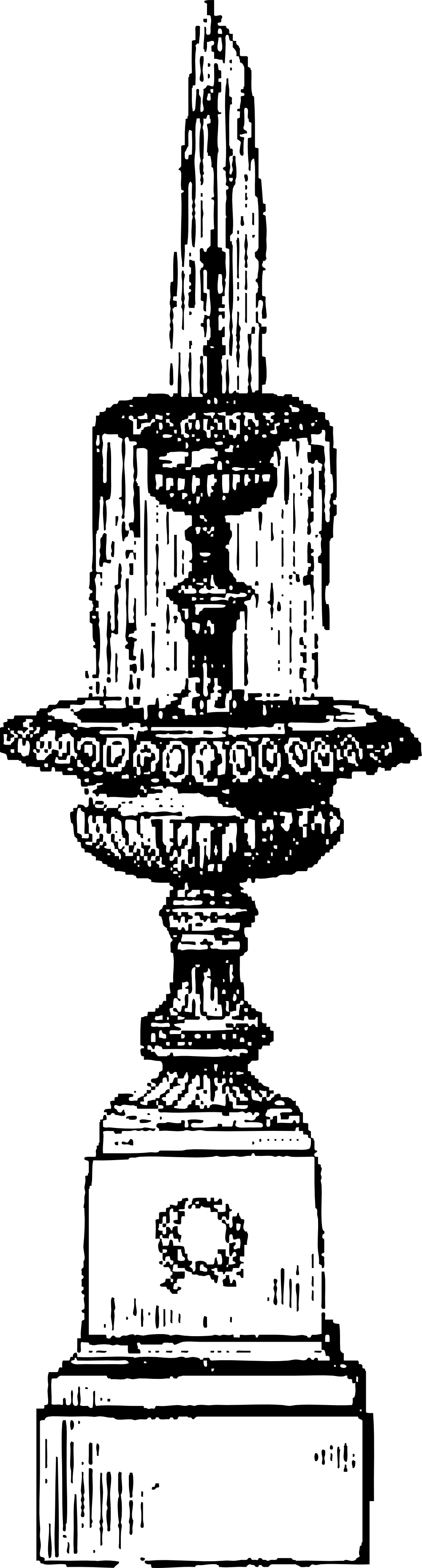 Fountain clipart black and white.