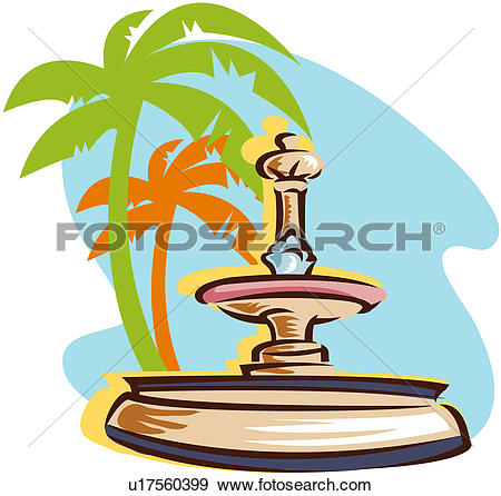 Clip Art of Decorative fountain u18421047.