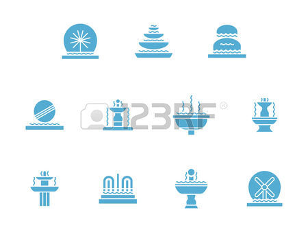 2,041 Water Fountains Stock Vector Illustration And Royalty Free.