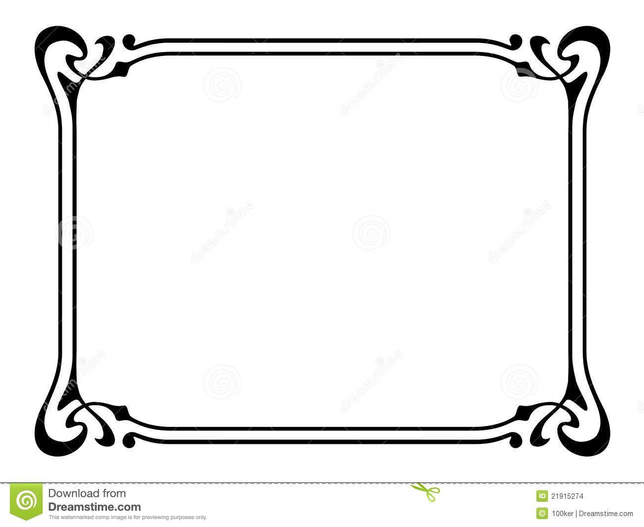 Art Nouveau Ornamental Decorative Frame.