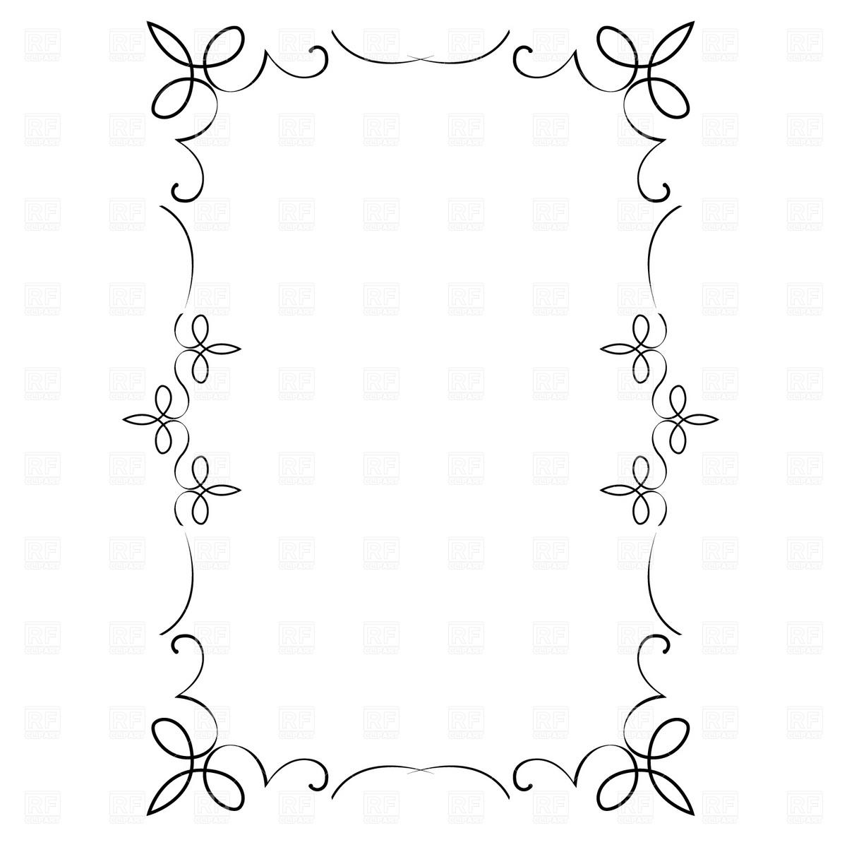 Decorative frame Stock Vector Image.