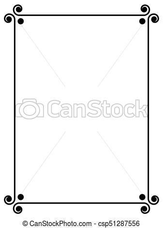 simple black ornamental decorative frame.