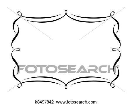 Calligraphy ornamental decorative frame Clipart.