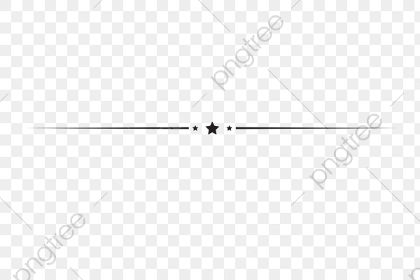 Star Horizontal Line Decoration Elements, Star Clipart, Line Clipart.