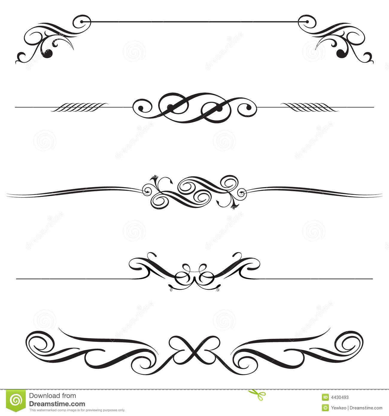 16 Vector Decorative Line Clip Art Images.