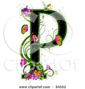 Free Decorative Alphabet Clipart.