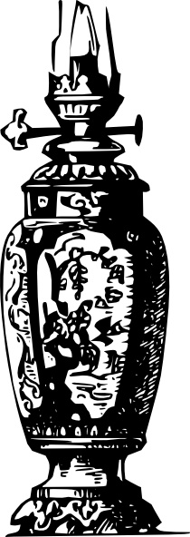 Antique Decorative Gas Lamp clip art Free vector in Open office.
