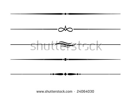 Decorative Lines Stock Images, Royalty.