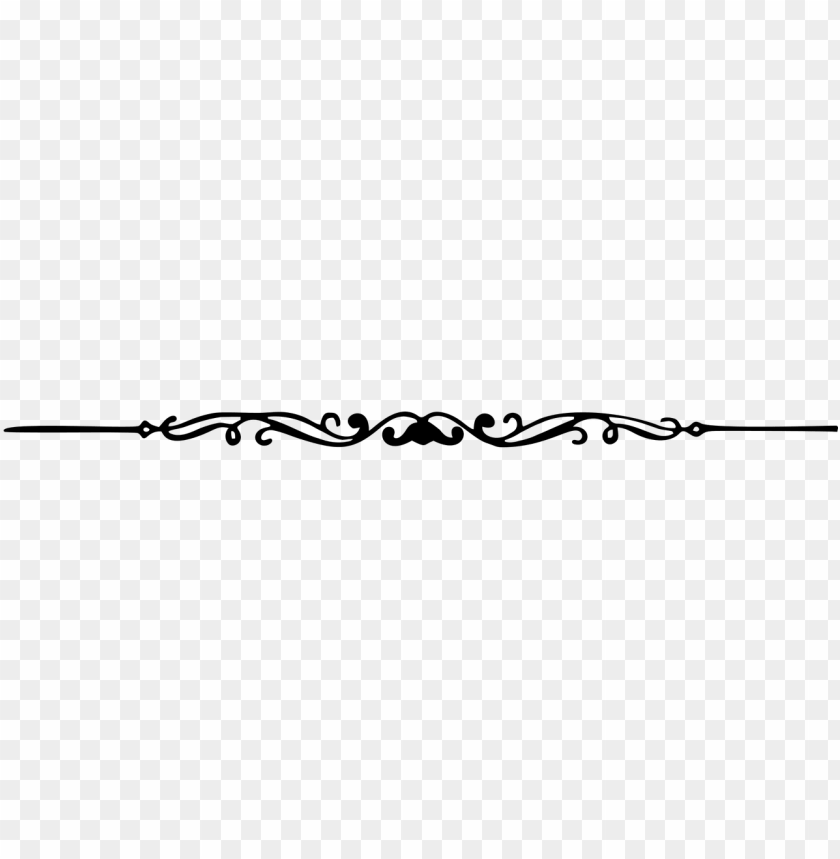 vector free stock decorative line divider clipart PNG image.