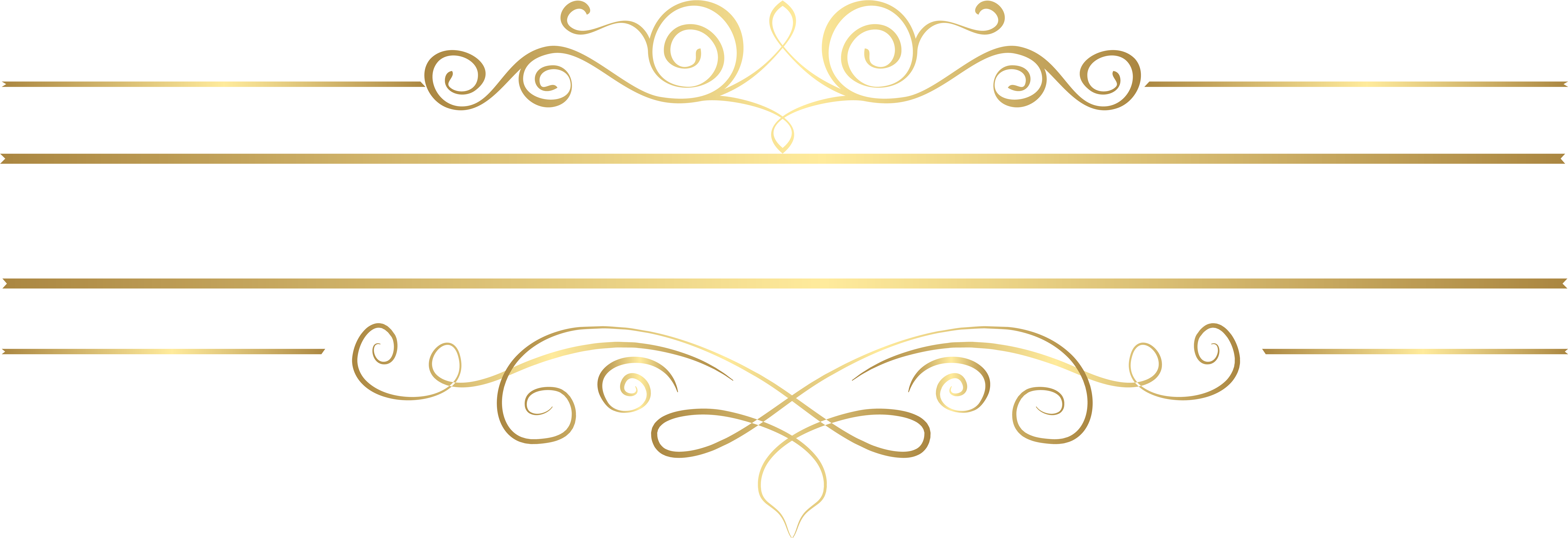 HD Gold Decorative Lines Png Transparent Background.