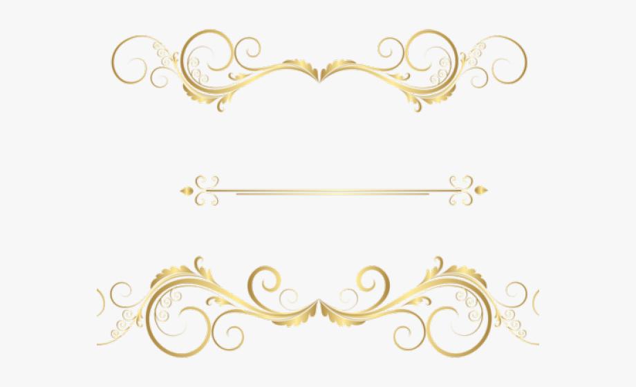 Decorative Line Gold Clipart.
