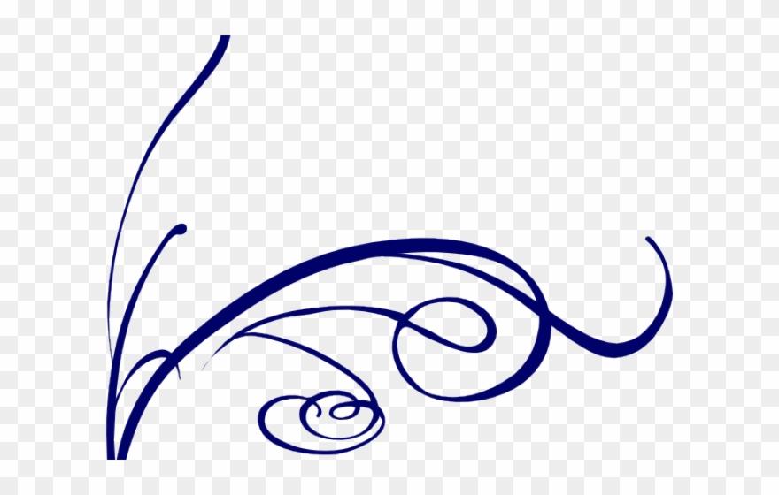 Decorative Line Blue Clipart Clip Art.