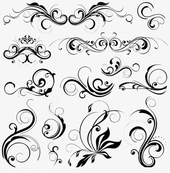Decorative Pattern PNG, Clipart, Black, Black Pattern.